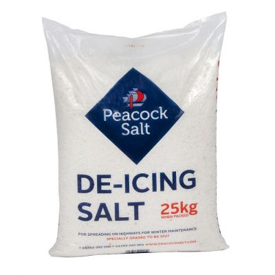 White Deicing Salt Pallet