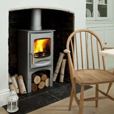 C-Six Woodburner with Store Stand